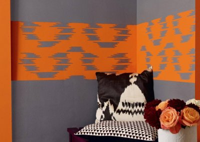 Create drama with charcoal grey walls