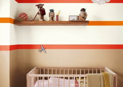 The vibrant children's bedroom