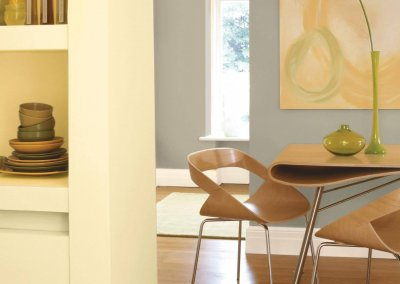 Keep it natural with a green dining room
