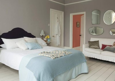 Create a luxurious hotel-style bedroom